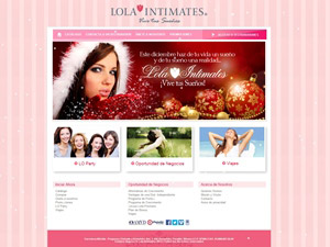 Sitio web de Lola Intimates